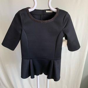 Nordstrom/ hinge/ peplum blouse